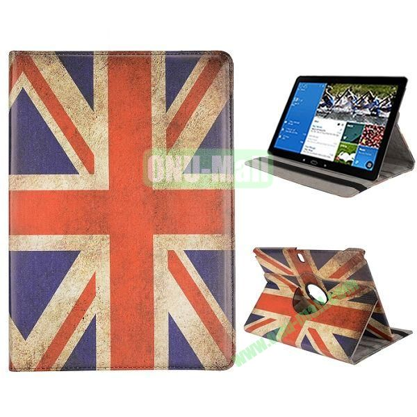 360 Degree Rotation Retro UK Flag Pattern PC + Leather Case with 3 Gears for Samsung Galaxy Note Pro 12.2  P900