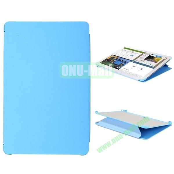 3-folding Flip Stand PC+Leather Case for Samsung Galaxy Note Pro 12.2  P900 (Blue)