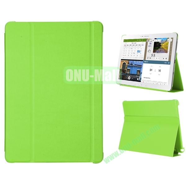 3-folding Flip Stand PC+Leather Case for Samsung Galaxy Note Pro 12.2  P900 (Green)