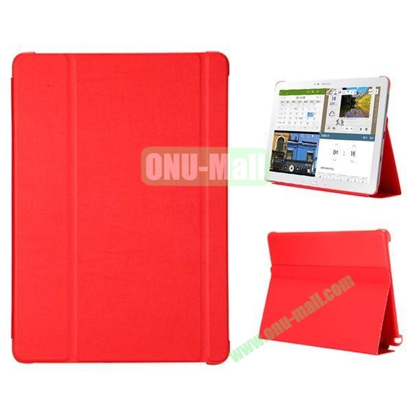 3-folding Flip Stand PC+Leather Case for Samsung Galaxy Note Pro 12.2  P900 (Red)