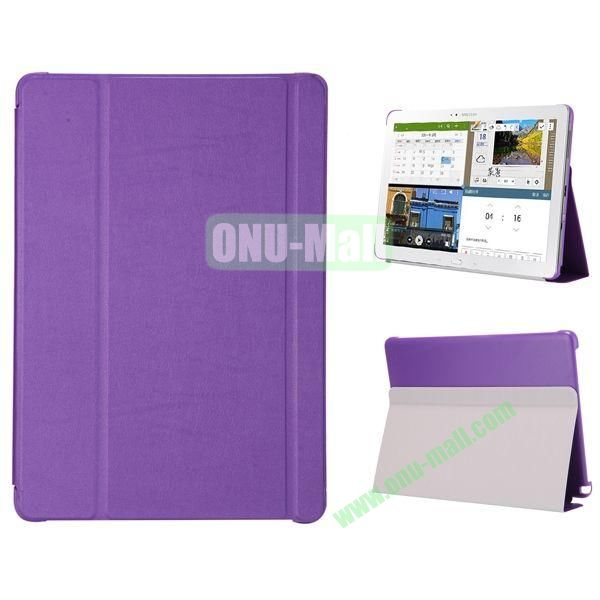 3-folding Flip Stand PC+Leather Case for Samsung Galaxy Note Pro 12.2  P900 (Purple)