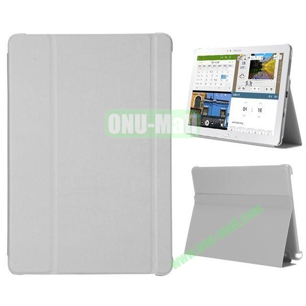 3-folding Flip Stand PC+Leather Case for Samsung Galaxy Note Pro 12.2  P900 (Grey)