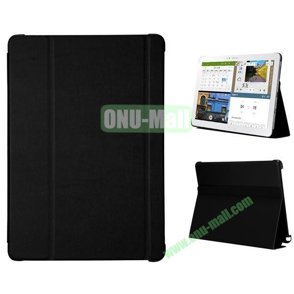 3-folding Flip Stand PC+Leather Case for Samsung Galaxy Note Pro 12.2  P900 (Black)