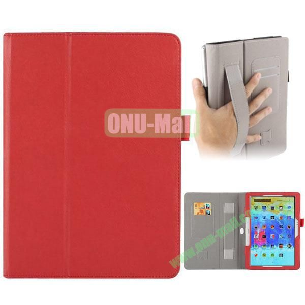 Crazy Horse Texture Leather Cover for Samsung Galaxy Tab Pro 10.1 with Armband and Holder (Red)
