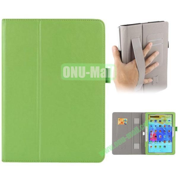 Crazy Horse Texture Leather Cover for Samsung Galaxy Tab Pro 10.1 with Armband and Holder (Green)