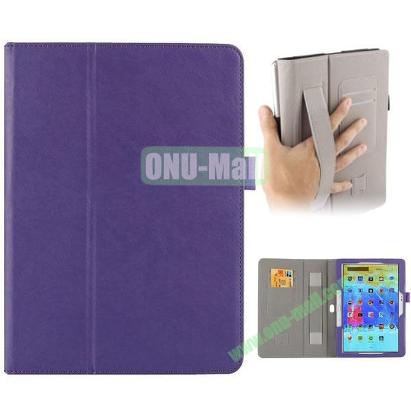 Crazy Horse Texture Leather Cover for Samsung Galaxy Tab Pro 10.1 with Armband and Holder (Purple)