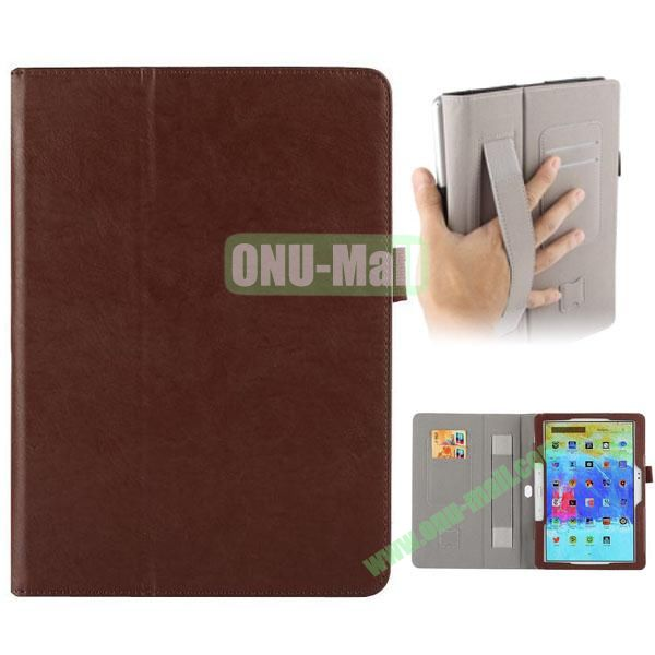 Crazy Horse Texture Leather Cover for Samsung Galaxy Tab Pro 10.1 with Armband and Holder (Brown)