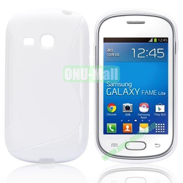 S-Shape TPU Case for Samsung Samsung Galaxy Fame Lite  S6790 (White)