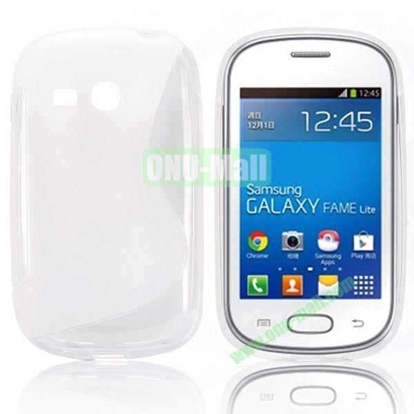 S-Shape TPU Case for Samsung Samsung Galaxy Fame Lite  S6790 (Transparent)