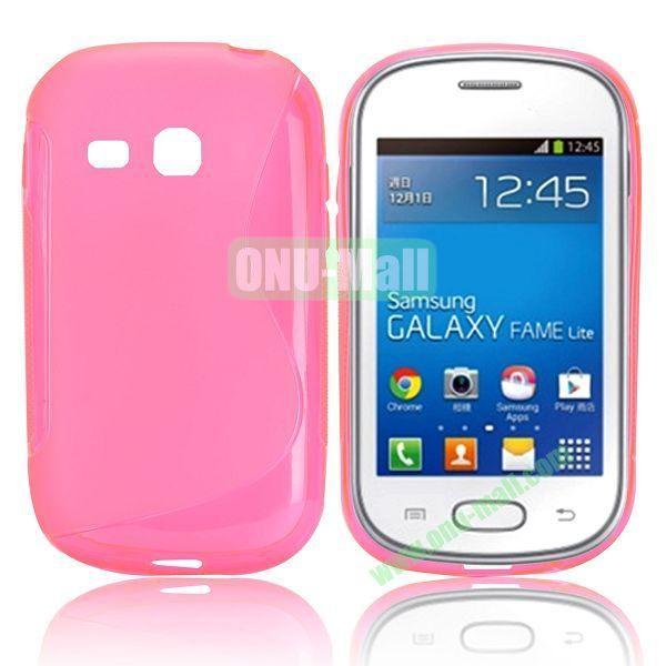 S-Shape TPU Case for Samsung Samsung Galaxy Fame Lite  S6790 (Rose)