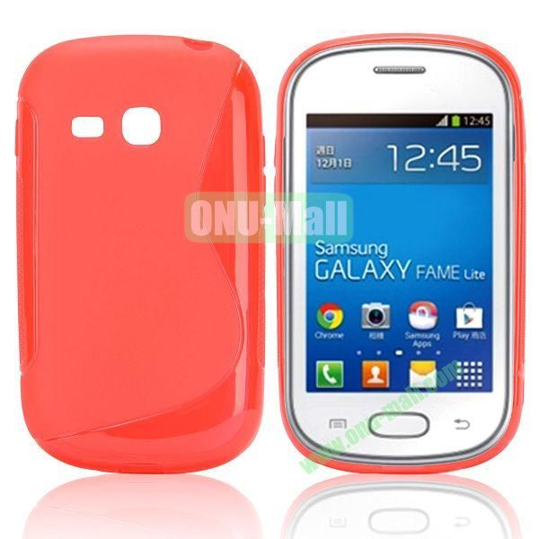 S-Shape TPU Case for Samsung Samsung Galaxy Fame Lite  S6790 (Red)
