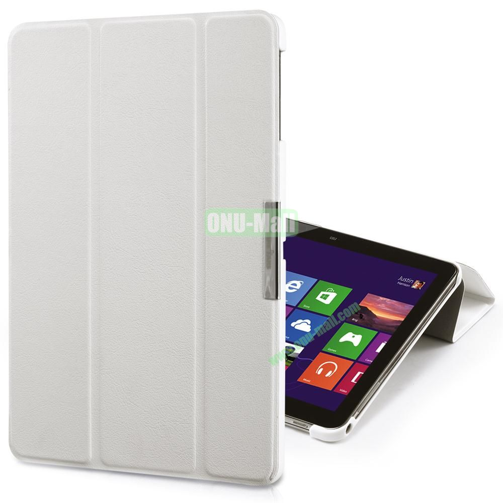 TakeFans Charm Series Flip Leather Cover for Samsung Galaxy Tab 3 Lite T110 T111 (White)