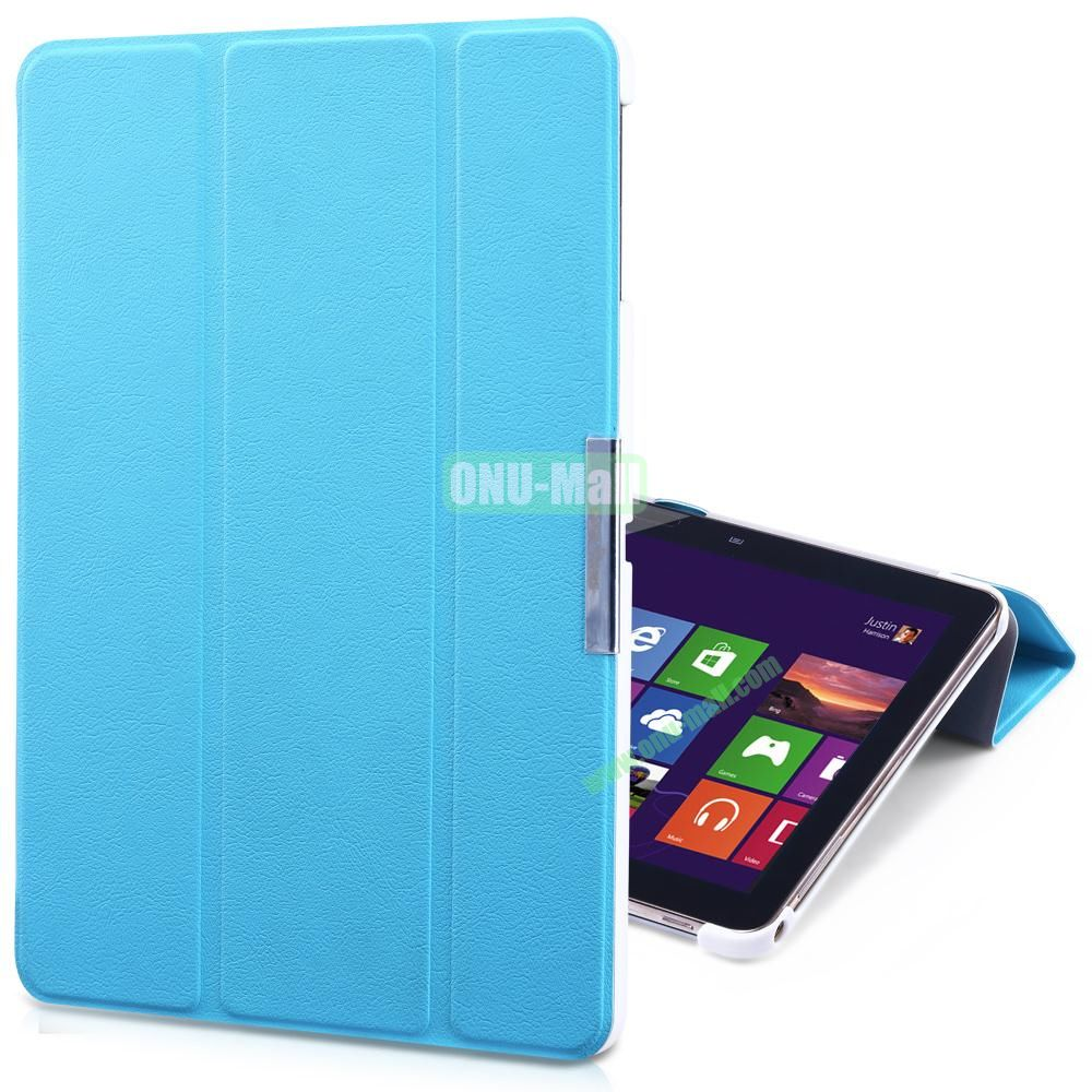 TakeFans Charm Series Flip Leather Cover for Samsung Galaxy Tab 3 Lite T110 T111 (Blue)