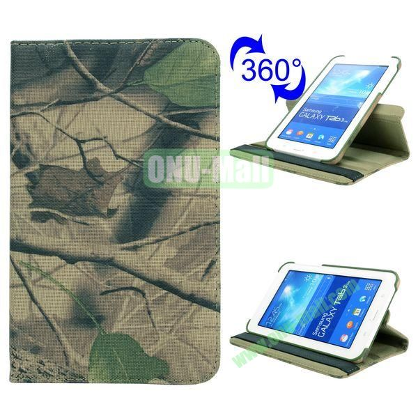 360 Rotating Retro Pattern Cloth Texture Flip Leather Case for Samsung Galaxy Tab 3 Lite T110 (Tree Branch)