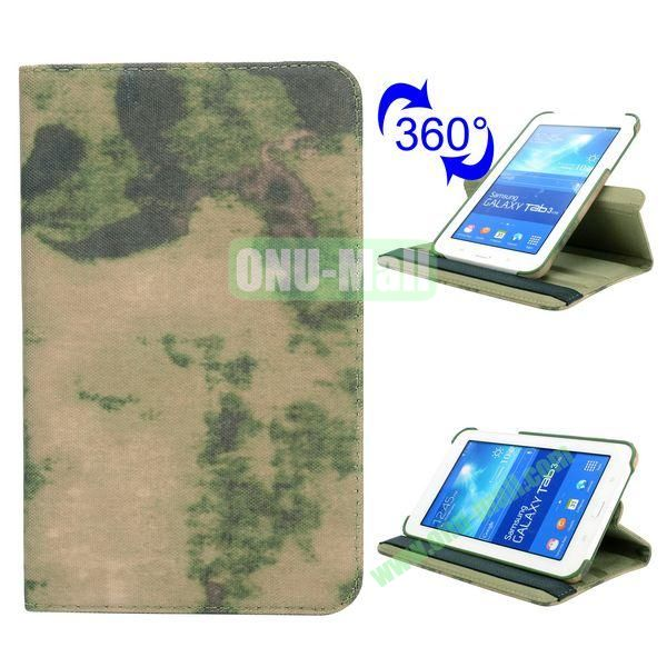 360 Rotating Retro Pattern Cloth Texture Flip Leather Case for Samsung Galaxy Tab 3 Lite T110 (Special Design)