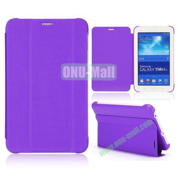 3 Folding Magnetic Stand Flip Leather Case Cover for Samsung Galaxy Tab 3 Lite T110 T111 (Purple)