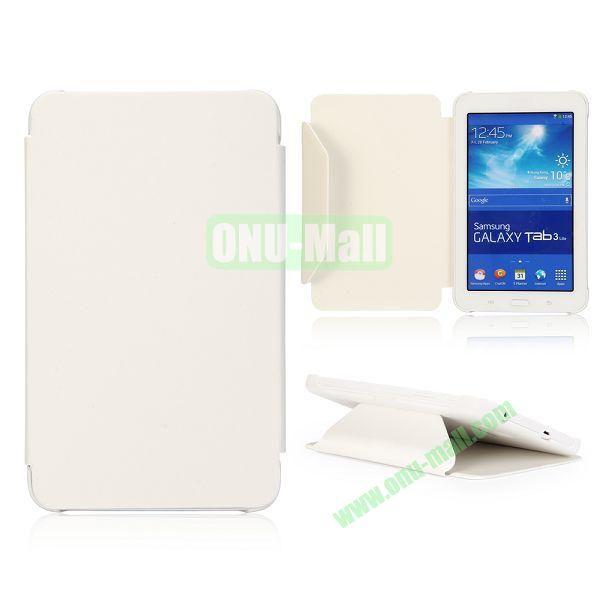 Cloth Texture Flip Stand PC + Leather Case for Samsung Galaxy Tab 3 Lite  T110  T111 (White)