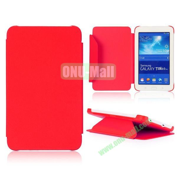 Cloth Texture Flip Stand PC + Leather Case for Samsung Galaxy Tab 3 Lite  T110  T111 (Red)