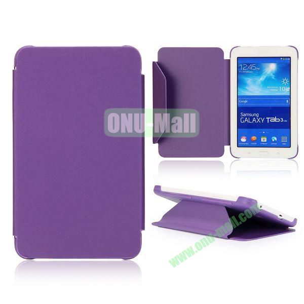 Cloth Texture Flip Stand PC + Leather Case for Samsung Galaxy Tab 3 Lite  T110  T111 (Purple)