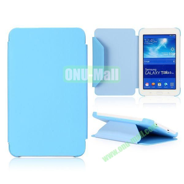 Cloth Texture Flip Stand PC + Leather Case for Samsung Galaxy Tab 3 Lite  T110  T111 (Blue)