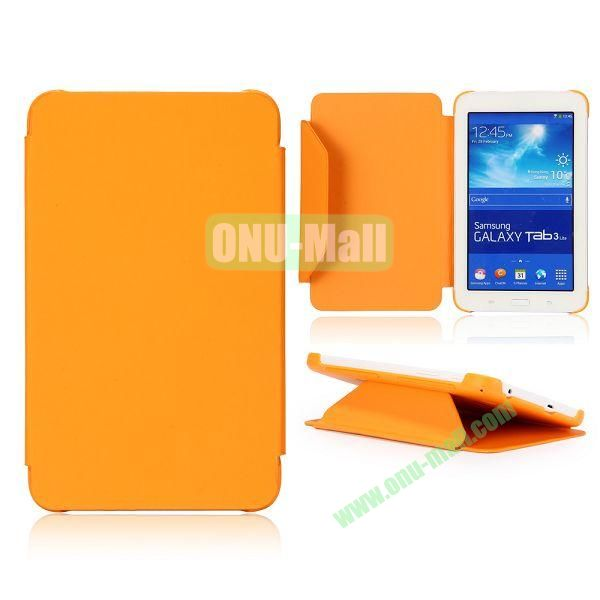 Cloth Texture Flip Stand PC + Leather Case for Samsung Galaxy Tab 3 Lite  T110  T111 (Orange)