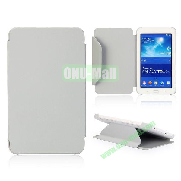Cloth Texture Flip Stand PC + Leather Case for Samsung Galaxy Tab 3 Lite  T110  T111 (Grey)