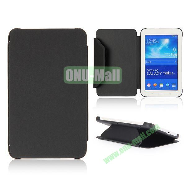 Cloth Texture Flip Stand PC + Leather Case for Samsung Galaxy Tab 3 Lite  T110  T111 (Black)