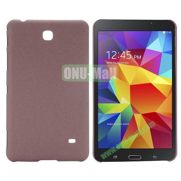 Quicksand Frosted PC Hard Case for Samsung Galaxy Tab 4 7.0 T230 (Brown)