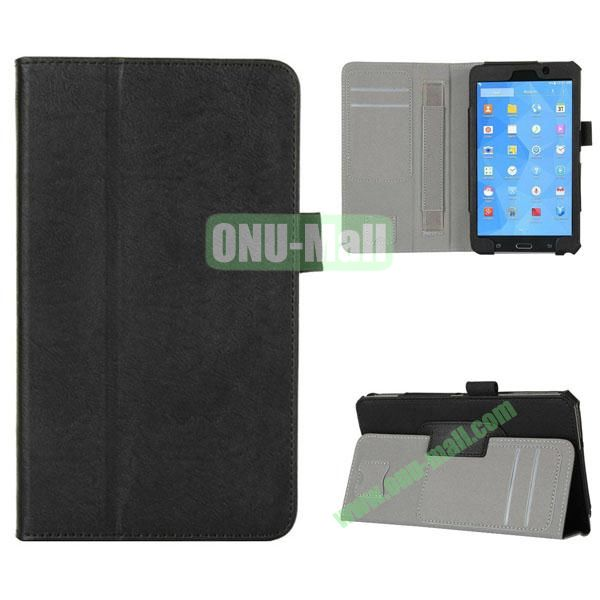 High Quality Flip Stand Genuine Leather Case with Card Slots and Armband Belt for Samsung T230 Galaxy Tab 4 7.0 (Black)