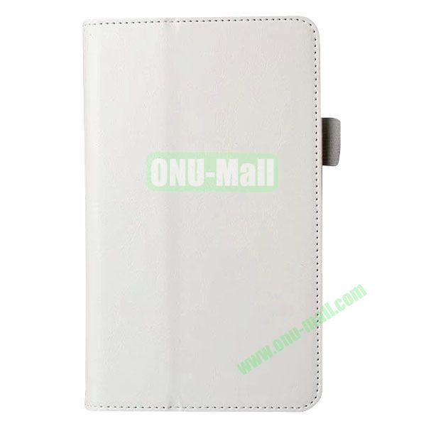 Crazy Horse Texture Flip Stand Leather Case for Samsung Galaxy 4 7.0  T230 (White)