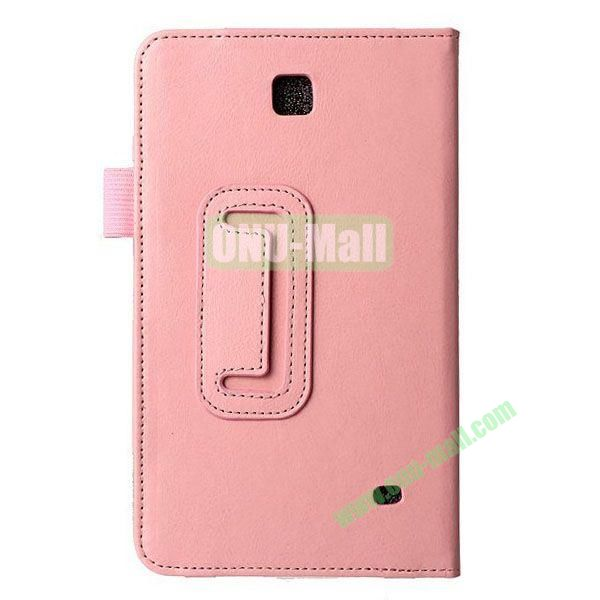 Crazy Horse Texture Flip Stand Leather Case for Samsung Galaxy 4 7.0  T230 (Pink)