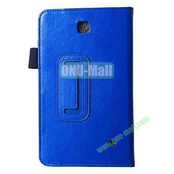 Crazy Horse Texture Flip Stand Leather Case for Samsung Galaxy 4 7.0  T230 (Blue)