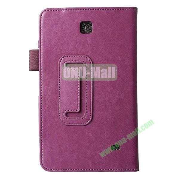 Crazy Horse Texture Flip Stand Leather Case for Samsung Galaxy 4 7.0  T230 (Purple)