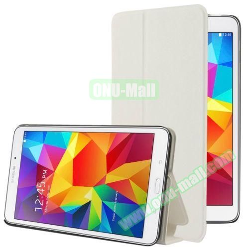 Frosted Texture Flip Leather Case for Samsung Galaxy Tab 4 7.0 T230 with Holder (White)