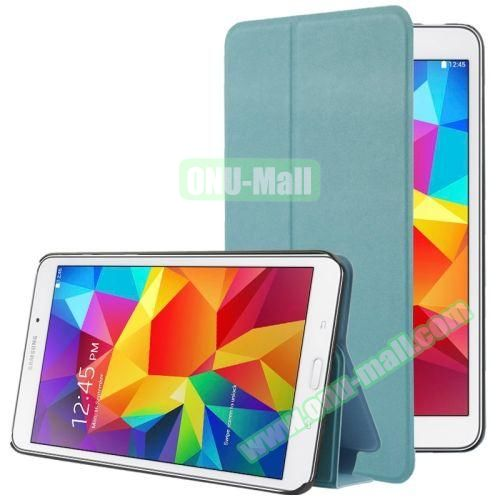 Frosted Texture Flip Leather Case for Samsung Galaxy Tab 4 7.0 T230 with Holder (Blue)