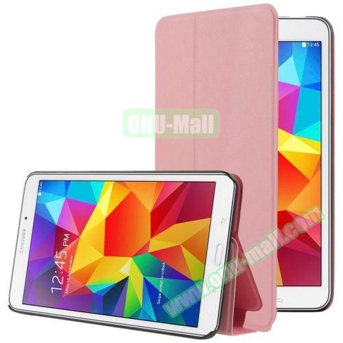 Frosted Texture Flip Leather Case for Samsung Galaxy Tab 4 7.0 T230 with Holder (Pink)