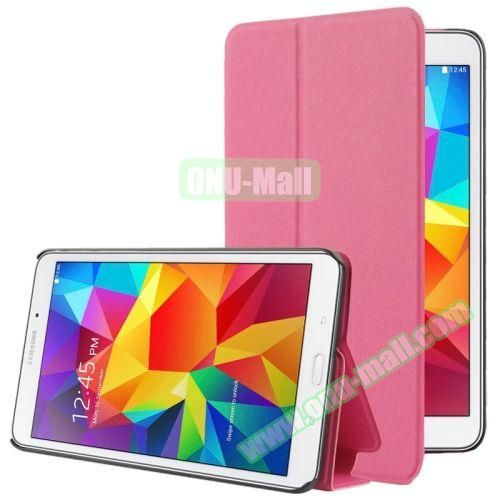 Frosted Texture Flip Leather Case for Samsung Galaxy Tab 4 7.0 T230 with Holder (Rose)