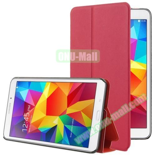 Frosted Texture Flip Leather Case for Samsung Galaxy Tab 4 7.0 T230 with Holder (Red)
