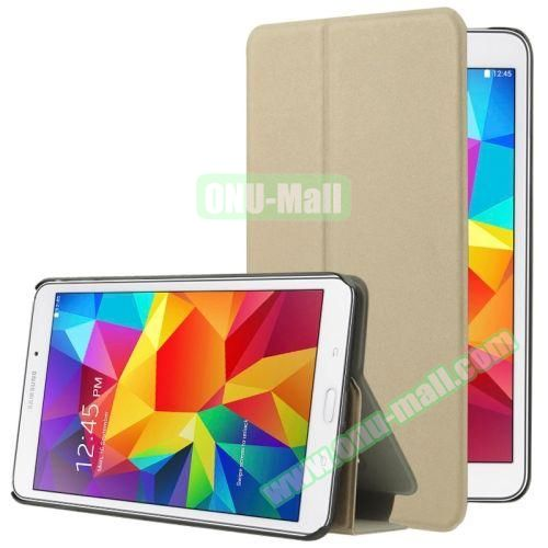 Frosted Texture Flip Leather Case for Samsung Galaxy Tab 4 7.0 T230 with Holder (Yellow)