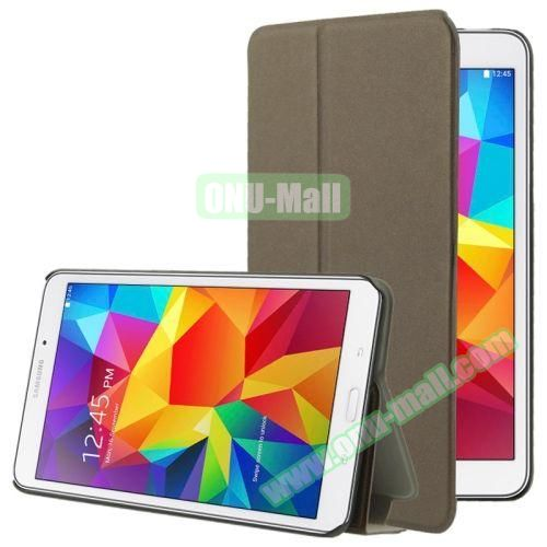 Frosted Texture Flip Leather Case for Samsung Galaxy Tab 4 7.0 T230 with Holder (Coffee)
