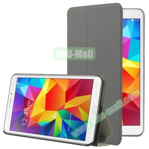 Frosted Texture Flip Leather Case for Samsung Galaxy Tab 4 7.0 T230 with Holder (Grey)
