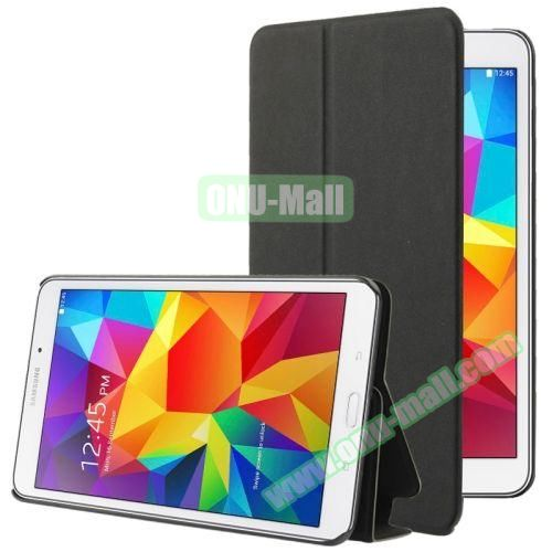 Frosted Texture Flip Leather Case for Samsung Galaxy Tab 4 7.0 T230 with Holder (Black)