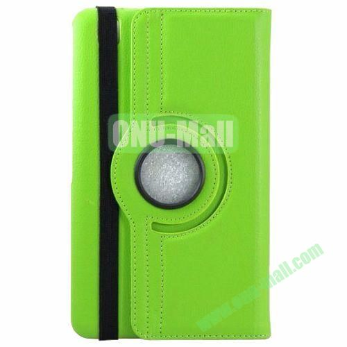 360 Rotating Style Litchi Pattern Leather Smart Cover for Samsung Galaxy Tab 3 Pro 8.4 T320 with Armband (Green)