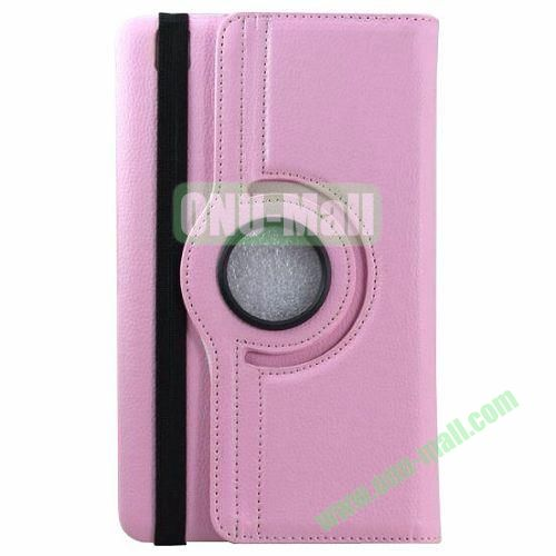 360 Rotating Style Litchi Pattern Leather Smart Cover for Samsung Galaxy Tab 3 Pro 8.4 T320 with Armband (Pink)