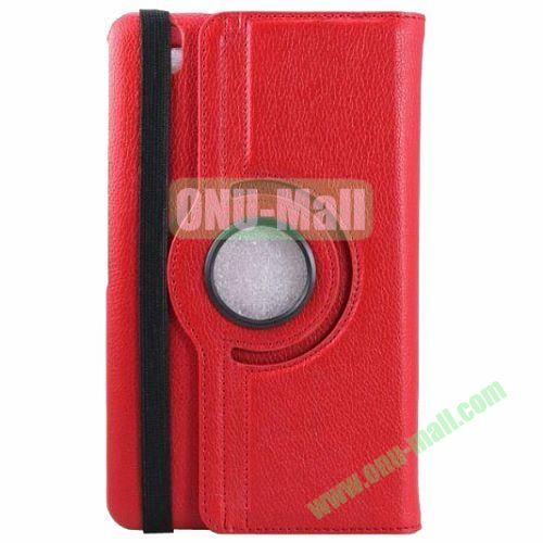 360 Rotating Style Litchi Pattern Leather Smart Cover for Samsung Galaxy Tab 3 Pro 8.4 T320 with Armband (Red)