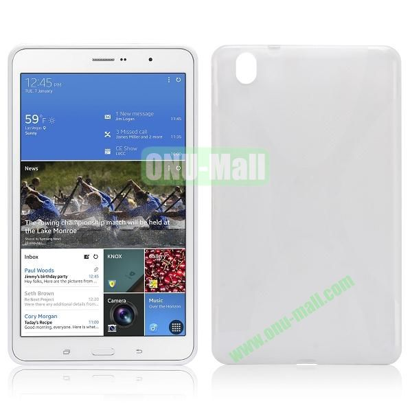 X Shape Anti-skid Soft TPU Case for Samsung Galaxy Tab Pro 8.4 T320 (Transparent)