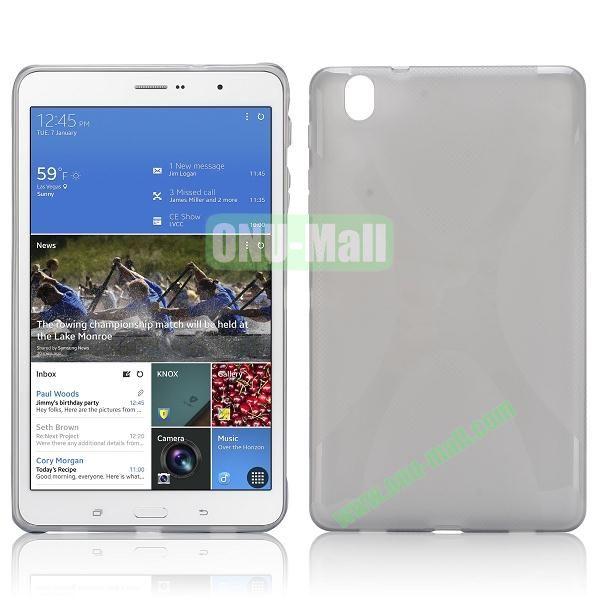 X Shape Anti-skid Soft TPU Case for Samsung Galaxy Tab Pro 8.4 T320 (Gray)
