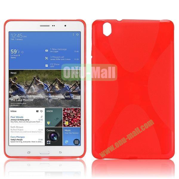 X Shape Anti-skid Soft TPU Case for Samsung Galaxy Tab Pro 8.4 T320 (Red)