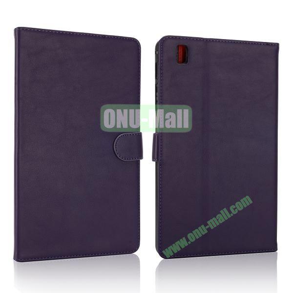 Korean Style Magnetic Flip Leather Case for Samsung Galaxy Tab Pro 8.4 T320 (Dark Purple)