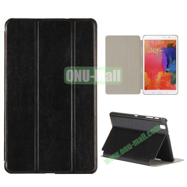 Crystal Grain 3 Folding Leather Case for Samsung Galaxy Tab Pro 8.4 T320 (Black)